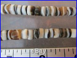 100 Ancient Rare Indo Tibetan Chung Dzi Agate Disk Bead Necklace 2000 Years Old