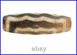 100% Authentic Ancient Himalayan Indo Tibetan Pure 5 eye Unique Old Lucky Dzi