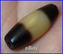 22mm Ancient Rare Dzi Agate Bead, 2000+ Years Old, #A5245
