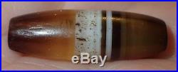 26mm Ancient Rare Dzi Agate Bead, 2000+ Years Old, #A5038