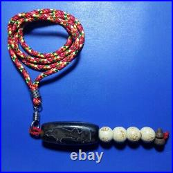 71 Tibetan bead old agate Guanyin ancient dzi pure amulet necklace tibet eyes