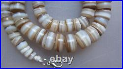 ANCIENT RARE INDO TIBETAN CHUNG DZI AGATE SULEMANI BEAD NECKLACE Approx. 78g