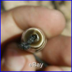 Afghan Etched Ancient 200+ yr Old Agate Dzi antique 1 Eye Window Beads