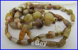 Ancient 51 tiny Carnelian and Chung dzi agate rare beads from Afghanistan