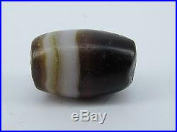 Ancient Chung dzi agate bead with white lines from Afghanistan