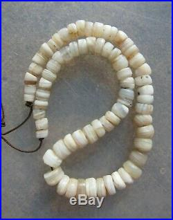 Ancient Rare Indo Tibetan Chung Dzi Agate Sulemani Bead Necklace 1800+ Years Old