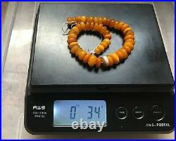 Ancient Tibetan Chung Dzi Sulemani Agate Bead With Antique Amber Beads Necklace