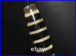 Ancient tibetan dzi bead 6 striped agate chung old necklace antique carnelian 11