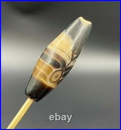 Dzi Old Bead Agate Ancient India Tibet Himalayan Nepalese Religious Antiquities