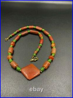 Dzi Old Bead Ancient Antique Indus Valley Carnelian Agate Beads