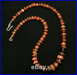 Dzi Old Beads Ancient Indus Valley India Himalayan Jewelry Carnelian Necklace