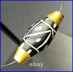 Dzi Old Beads Ancient Pyu Burmese South East Asian Antiquity Agate Jewelry Gold