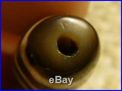 Exceptional Ancient Like Quality Tibetan Agate Stone Dzi Bead With 2 Eyes (4)