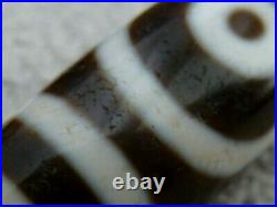 Exceptional Ancient Like Quality Tibetan Agate Stone Dzi Bead With 2 Eyes (c)