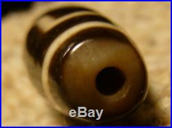 Exceptional Ancient Like Quality Tibetan Agate Stone Dzi Bead With 2 Eyes (y)