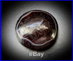 LARGE ANCIENT TIBETAN ROUND BANDED AGATE GOATS EYE dZi BEAD c1000 BC to 300 AD