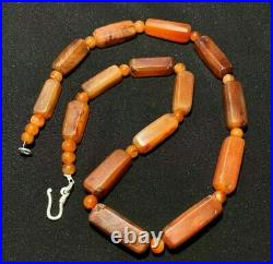 Old DZi Agate A Beautiful Collection Of Very Old Ancient Carnelian Agate Beads