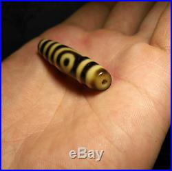 Tibetan bead old agate 2 eyes amulet gzi ancient dzi pure ancient two 9 necklace