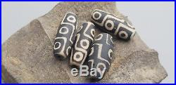 VR. One time offer! Ancient Dzi glass beads lot x 4 Please read description L115o